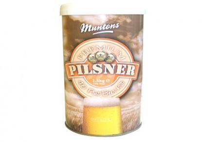 Солодовый экстракт Muntons Premium Pilsner 1,5 кг, на 23 л пива.