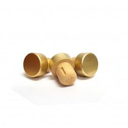 Пробка Камю алюминиевая, 19,5 мм, золото