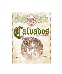 Наклейки на бутылку «Russian Calvados», 10 штук