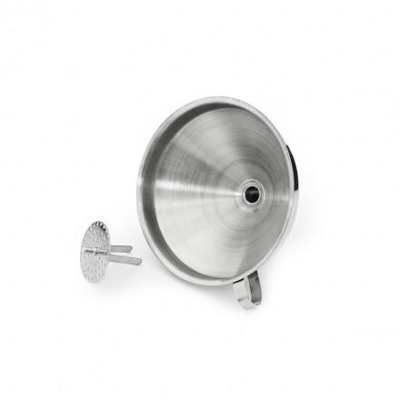 Воронка с фильтром 13 см, нержавеющая сталь 304