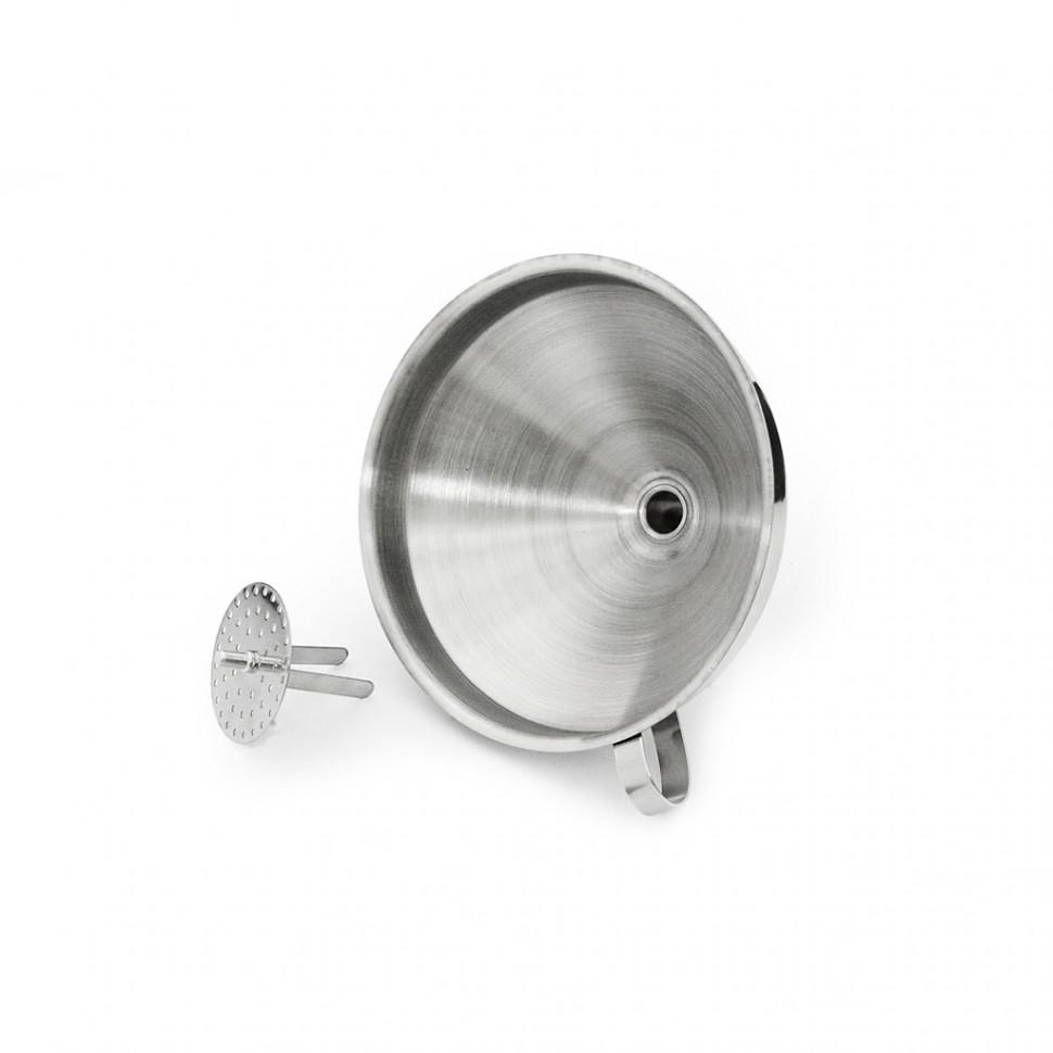 Воронка с фильтром 15 см, нержавеющая сталь 304