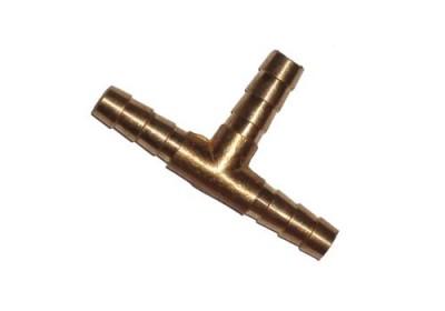 Тройник латунный на трубку 8 мм