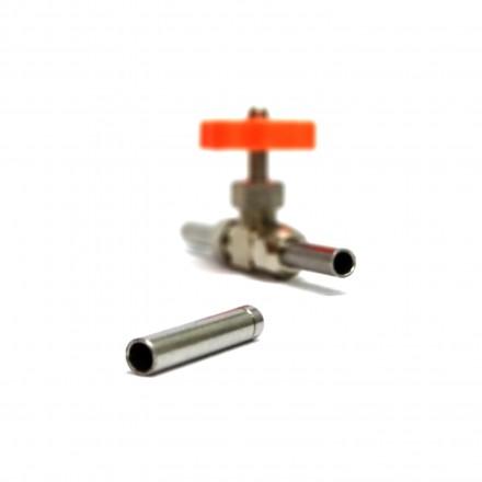 Трубка-штуцер для игольчатого крана из нержавейки 10 мм