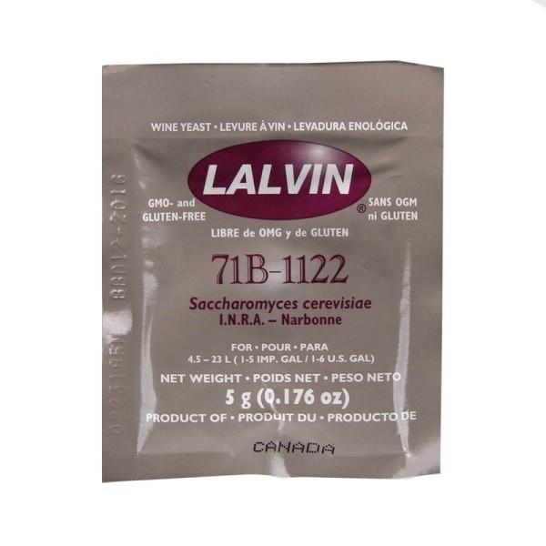 Дрожжи винные Lalvin 71B-1122, 5 гр