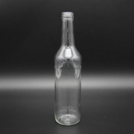 Бутылка винтовая 0,5 л  с алюминиевой крышкой золото
